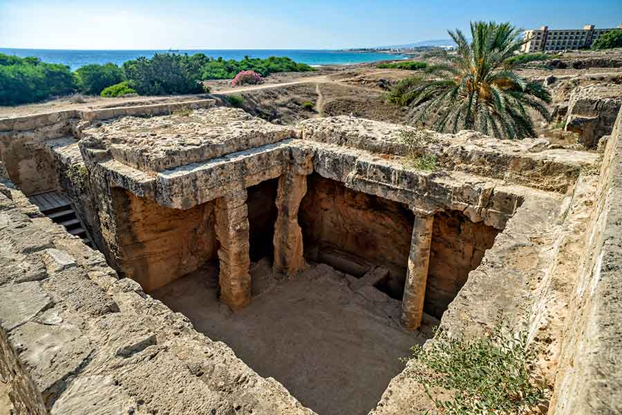 Tomb of the Kings Paphos   Cyprus Villas UK
